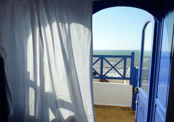 Chambre ensoleillée avec vue mer à Essaouira
